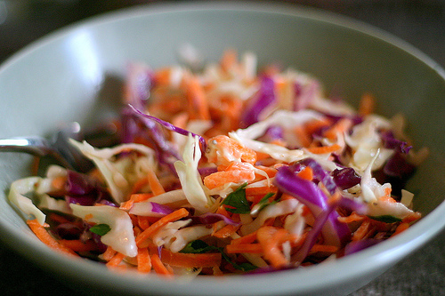 This is a coleslaw photo from Smitten Kitchen - with a link to a recipe and article!