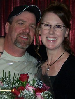 Scott and Liesl after her 2008 Poetry Show - with the roses he brought!