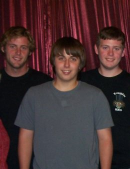 Michael, our oldest son, Andrew, our nephew (in the front), and Joey, our second son - at the time of the 2009 Show. Michael was on his own by then. Both Andrew and Joey were living with us.
